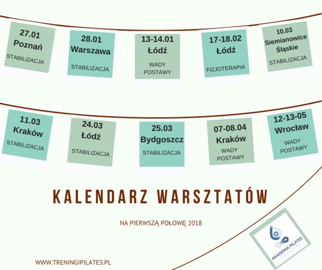 KALENDARZ WARSZTATÓWx